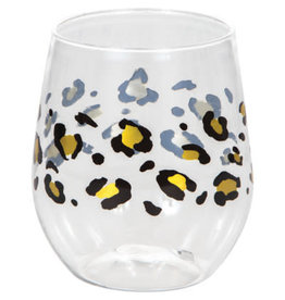 creative converting Leopard 14oz. Wine Glass - 1ct.