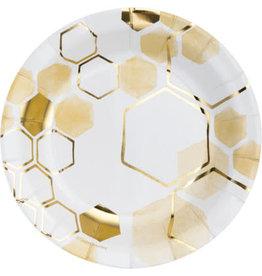 "creative converting Honeycomb 7"" Plates - 8ct."