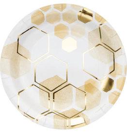 "creative converting Honeycomb 9"" Plates - 8ct."