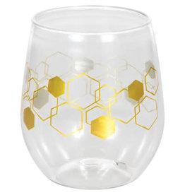 creative converting Honeycomb 14oz Wine Glass - 1ct.