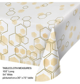 """creative converting Honeycomb Tablecover - 54"""" x 102"""""""