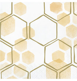 creative converting Honeycomb Lunch Napkins - 16ct.