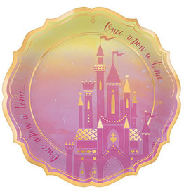 "Amscan Disney Princess 10.5"" Foil Shaped Plates - 8ct."
