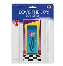 Beistle I Love The 90's Door Cover - 6ft.