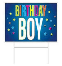 "Beistle Birthday Bow Lawn Sign - 11.5"" x 15.5"""