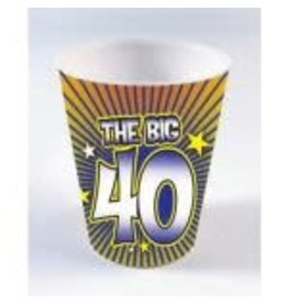SKD Party by Forum 40th Birthday Shot Glass Beads - 1ct.