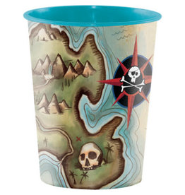 creative converting Pirate's Map 16oz Cup - 1ct.