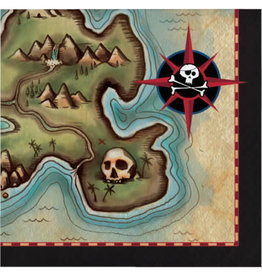 creative converting Pirate's Map Beverage Napkins - 16ct.