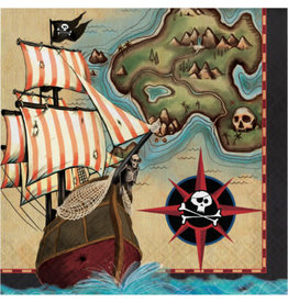 creative converting Pirate's Map Lunch Napkins - 16ct.