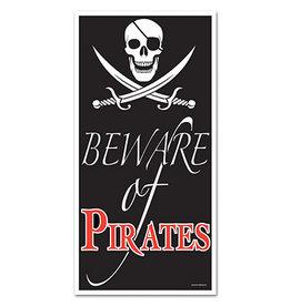 Beistle Beware Of Pirates Door Cover - 5ft.