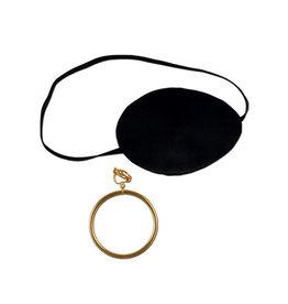 Beistle Pirate Eye Patch w/Plastic Earring