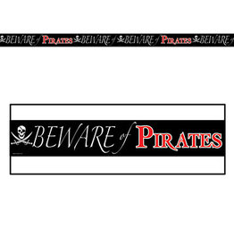 Beistle Beware Of Pirates Party Tape - 20ft.