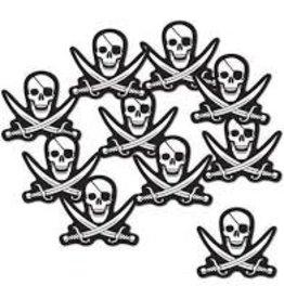 Beistle Pirate Skull & Crossbones Cutouts - 10ct.