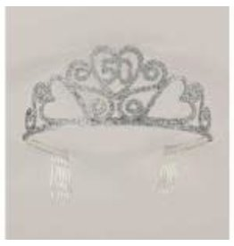 SKD Party by Forum Glitter 50th Birthday Tiara - 1ct.