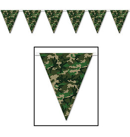 Beistle Camo Pennant Banner - 12ft.