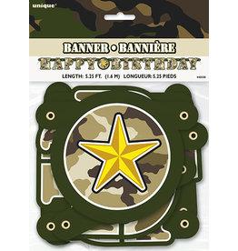 unique Happy Birthday Camouflage Banner - 5ft.
