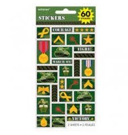 Amscan Camouflage Stickers - 60ct.