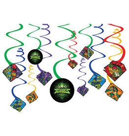 Amscan TM Ninja Turtles Swirls - 12ct.