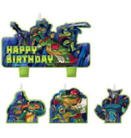 Amscan Rise Up TMNT Candle Set - 4ct.
