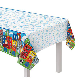 """Amscan Party Town Tablecover - 54"""" x 96"""""""