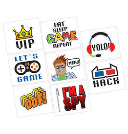 Amscan Party Town Tattoos - 8ct.