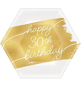 "Amscan Golden Age 30th Birthday 7"" Plates - 8ct."