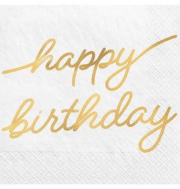 Amscan Golden Age Birthday Bev. Napkins - 16ct.