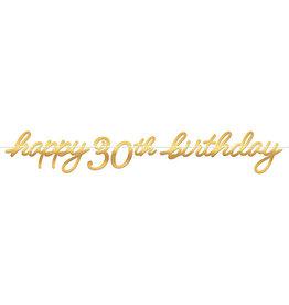 Amscan Golden Age 30th Birthday Banner - 12ft.