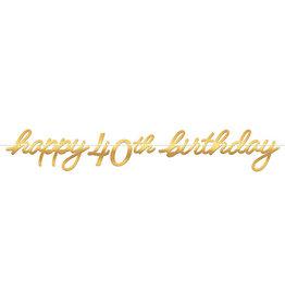 Amscan Golden Age 40th Birthday Banner - 12ft.