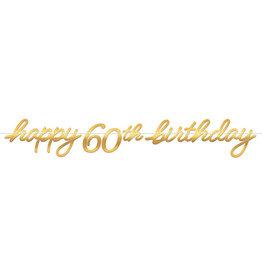 Amscan Golden Age 60th Birthday Banner - 12ft.