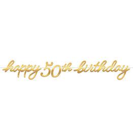 Amscan Golden Age 50th Birthday Banner - 12ft.