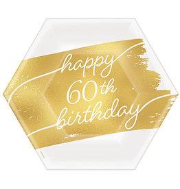 "Amscan Golden Age 60th Birthday 7"" Plates - 8ct."