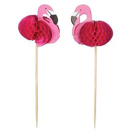 "Beistle Flamingo 7"" Party Picks - 24ct."