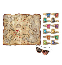 Beistle 'Pin The Flag' Treasure Map Game - 14ct.