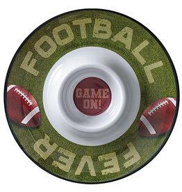 """Amscan Football Chip & Dip Tray - 13"""""""