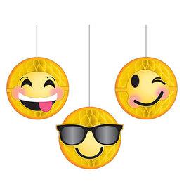 Amscan LOL Emoji Honeycomb Decor - 3ct.