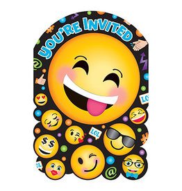 Amscan LOL Emoji Invites - 8ct.
