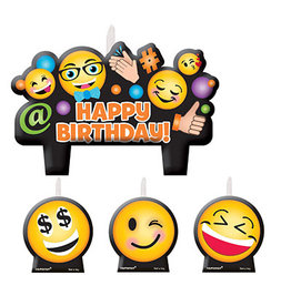 Amscan LOL Emoji Candle Set - 4ct.