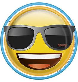 """unique Emoji 9"""" Plates - 8ct."""