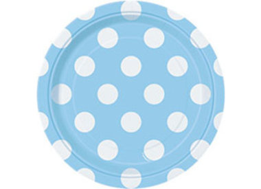 Powder Blue Dots