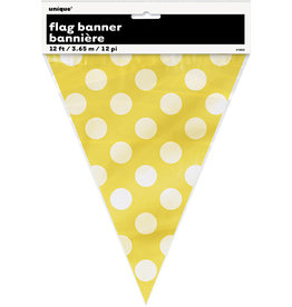 unique Sunflower Yellow Dots Flag Banner - 12ft.