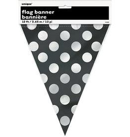 unique Black Dots Flag Banner - 12ft.