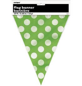 unique Lime Green Dots Flag Banner - 12ft.