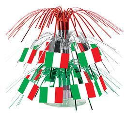 "Beistle Italian Flag 7.5"" Cascade Centerpiece - 1ct."