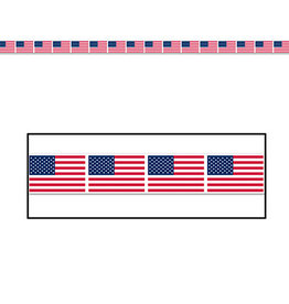 Beistle American Flag Party Tape - 20ft.