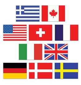 Beistle Mini International Flag Cutouts - 10ct.