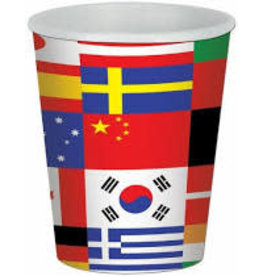 Beistle International 9oz.  Flag Cups - 8ct.