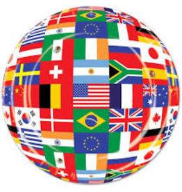 "Beistle International Flag 7"" Plates - 8ct."