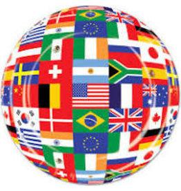 "Beistle International Flag 9"" Plates - 8ct."