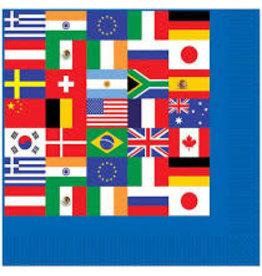 Beistle International Flag Beverage Napkins - 16ct.